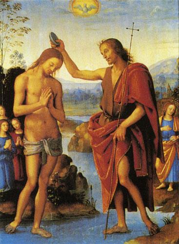 Перуджино. Крещение Господне